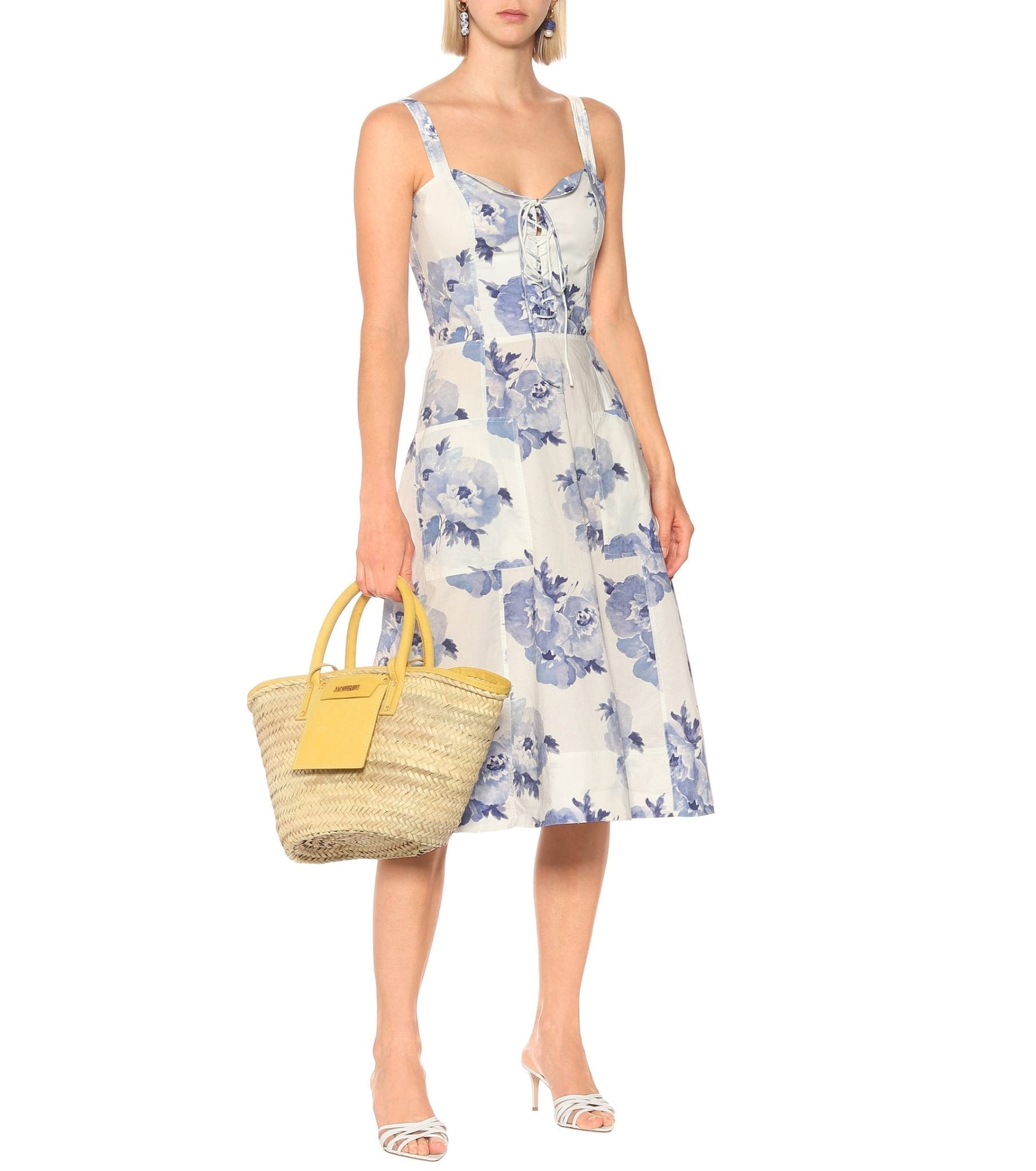 POLO RALPH LAUREN Exclusive To Mytheresa – Floral Cotton Midi Dress