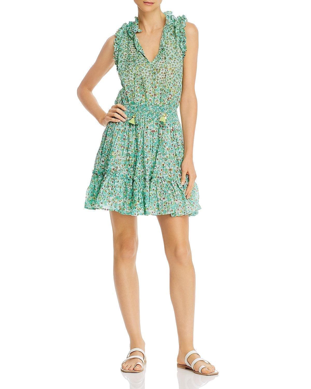 POUPETTE ST. BARTH Sleeveless Mini Peasant Dress