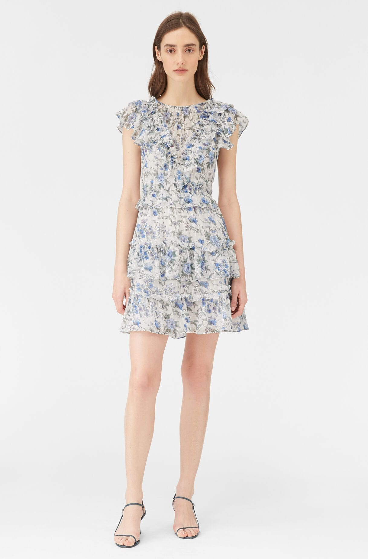 REBECCA TAYLOR Esmee Fleur Clip Dress