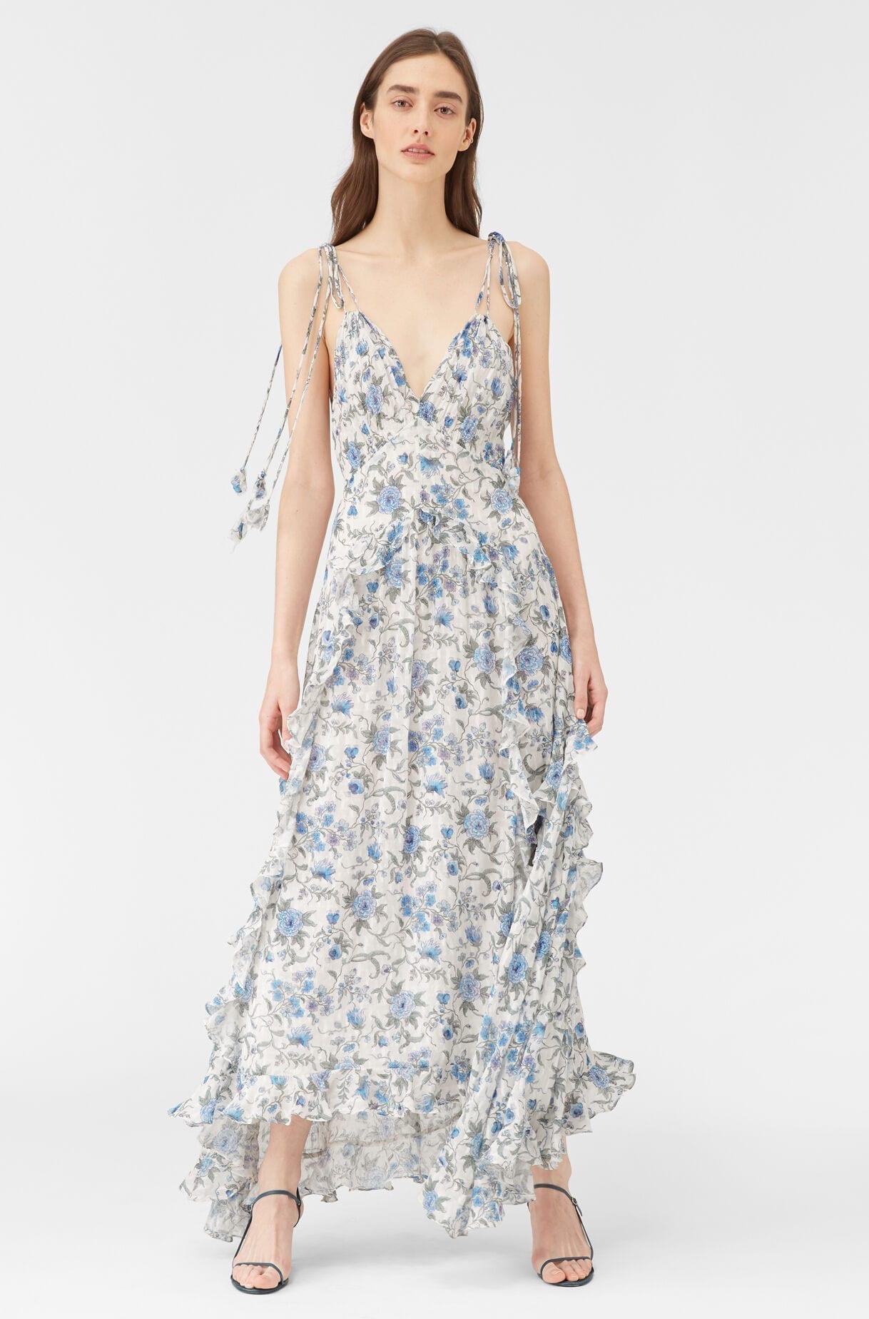 REBECCA TAYLOR Esmee Fleur Ruffle Clip Dress