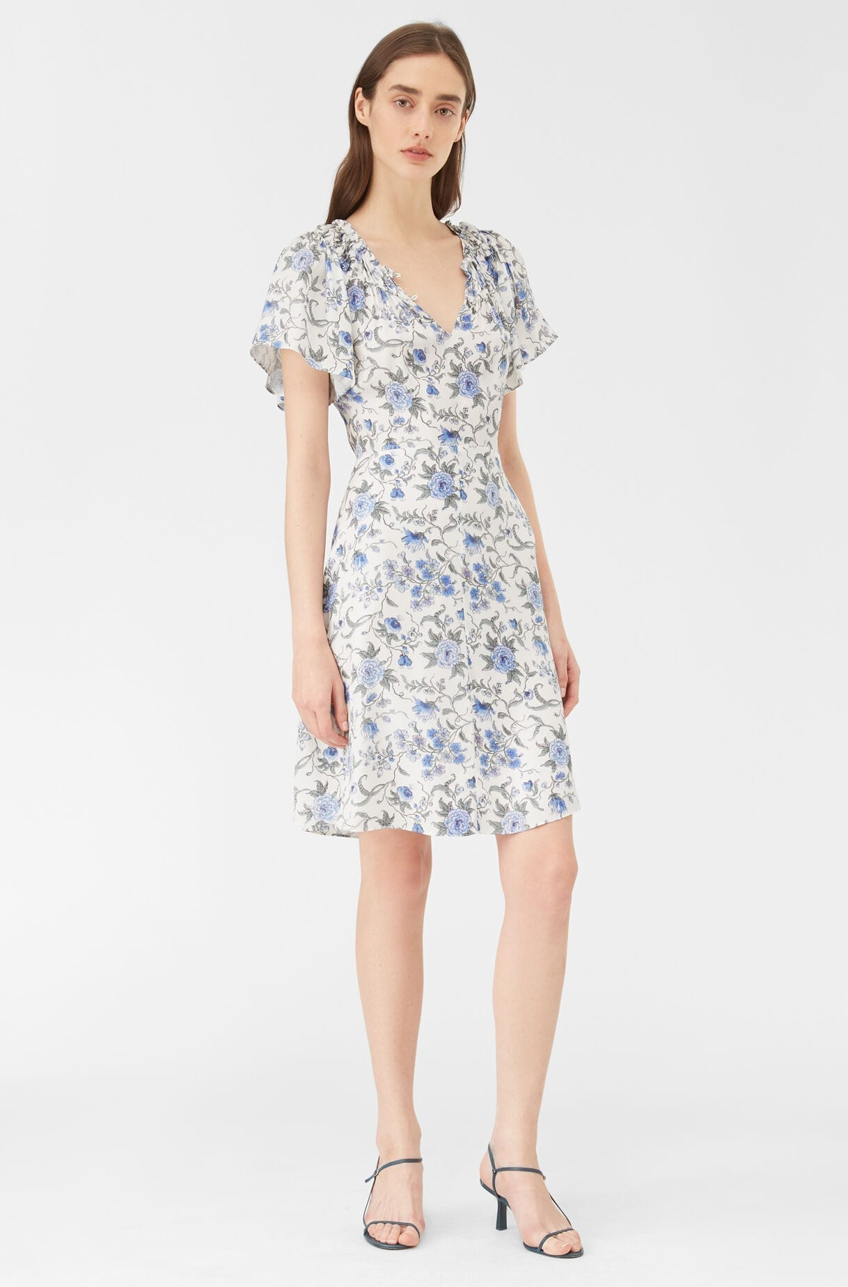 REBECCA TAYLOR Esmee Fleur Silk Twill Dress