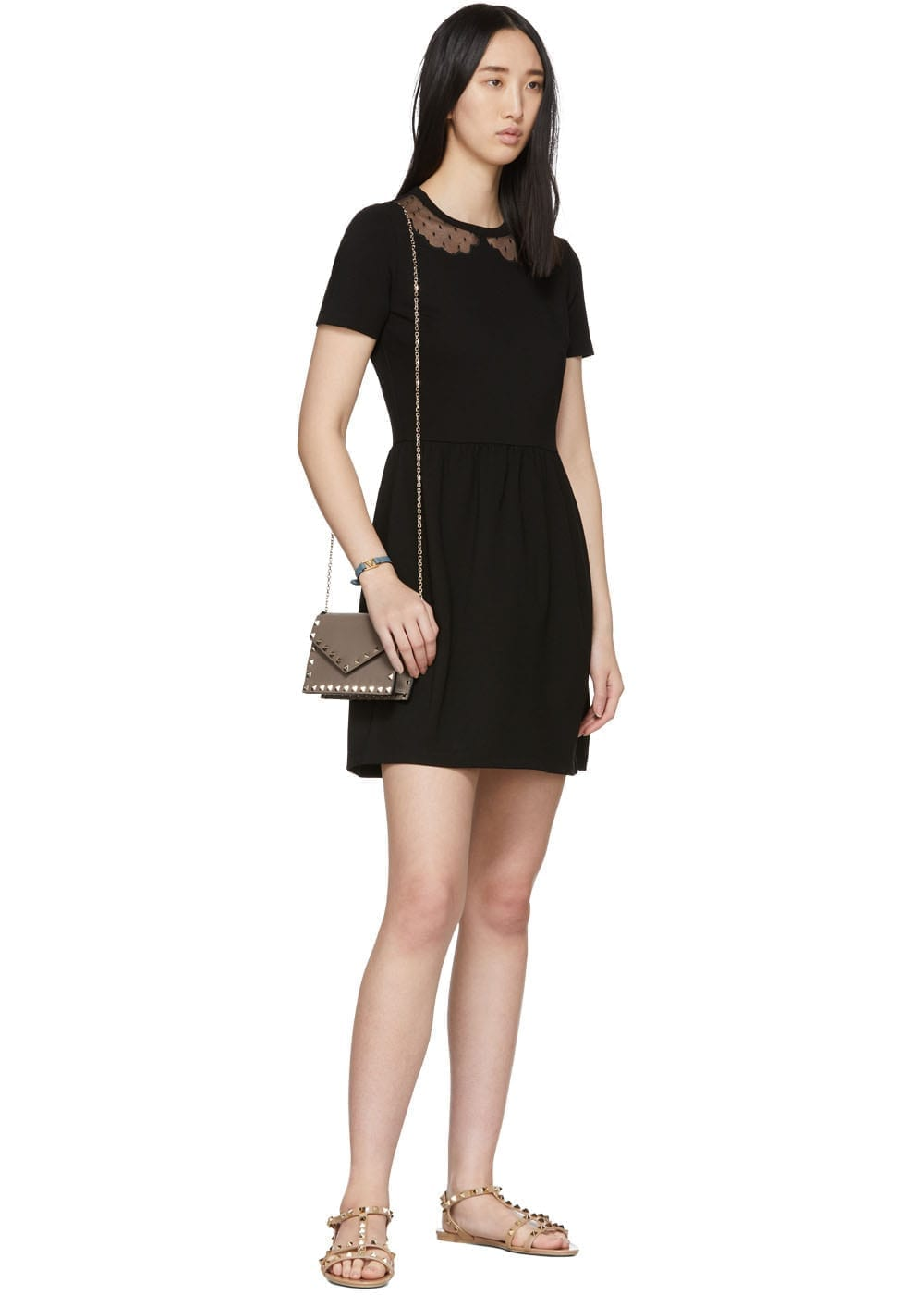 RED VALENTINO Black Punto Milano Dress