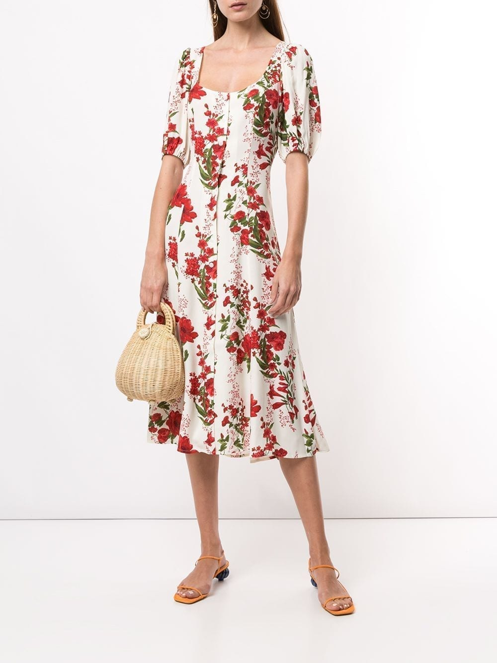 REFORMATION Beechwood Floral-print Midi-Dress