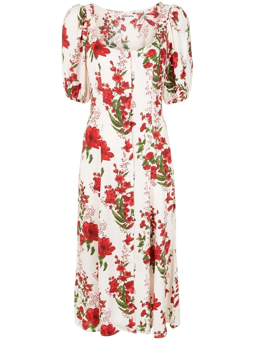 REFORMATION Beechwood Floral-print Midi-Dress