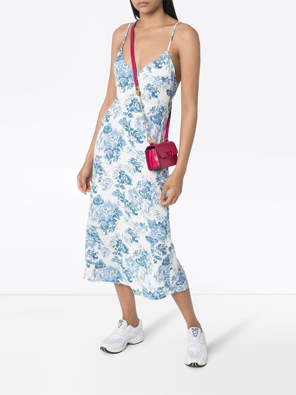 REFORMATION Chianti Floral-Print Slip Dress