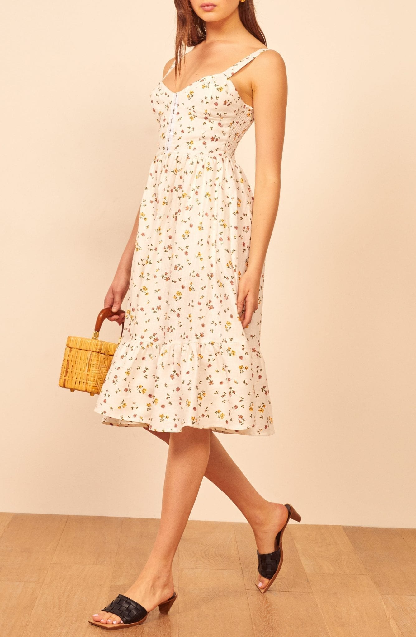 REFORMATION Dolci Floral Sun Dress