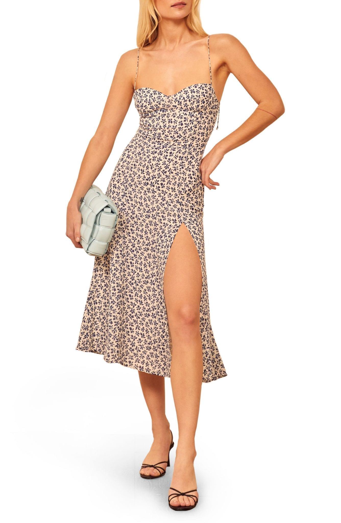 REFORMATION Juliette High Slit Floral Sun Dress