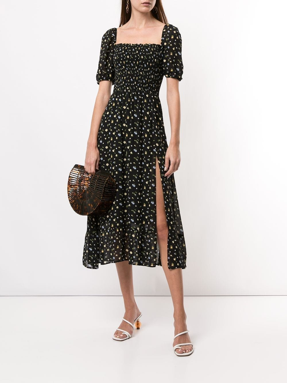REFORMATION Meadow Floral-Print Midi-Dress