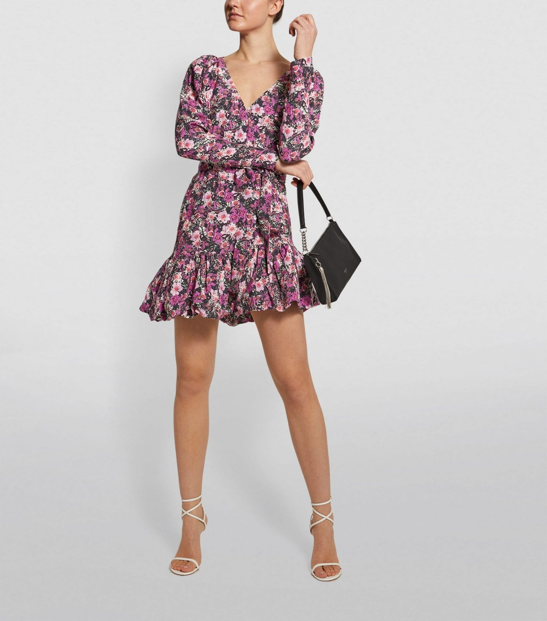 ROTATE Floral Tie Dress