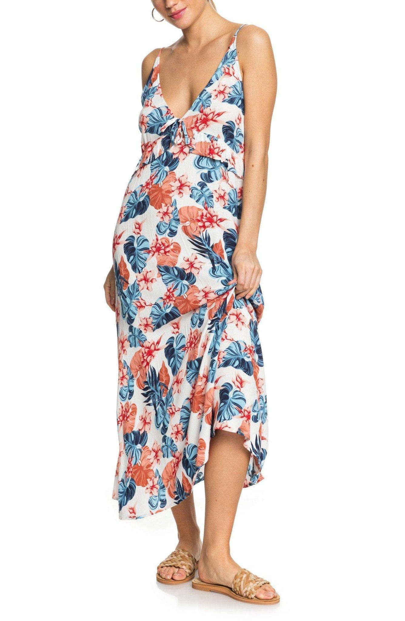 ROXY Close to Sea Floral Print Maxi Dress