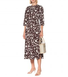 S MAX MARA Siena Printed Cotton Midi Dress