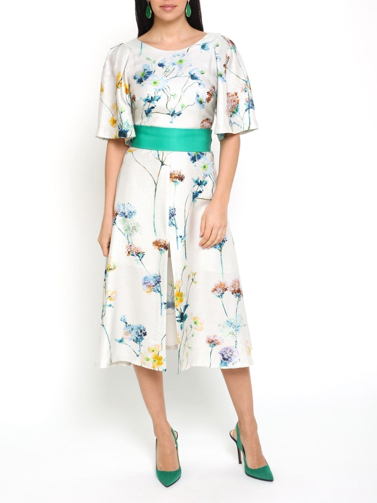 SAFIRO Crystal Flower Dress
