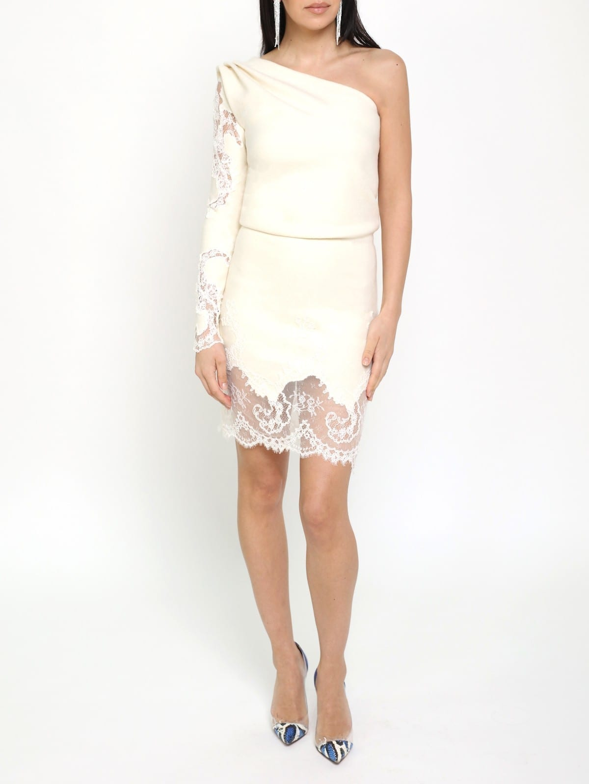 SAFIRO White Coral Lace Dress