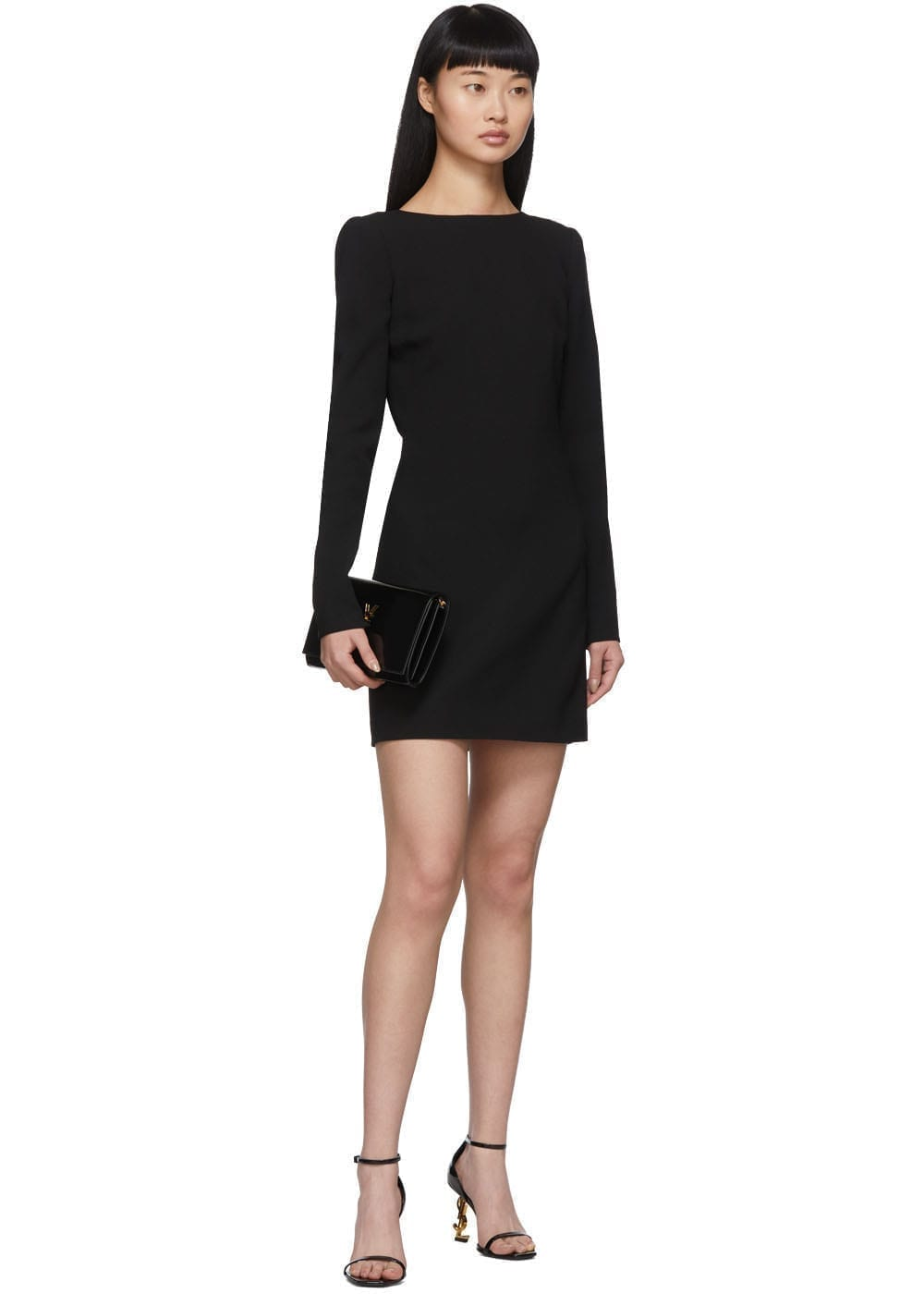 SAINT LAURENT Black Knot Back Dress