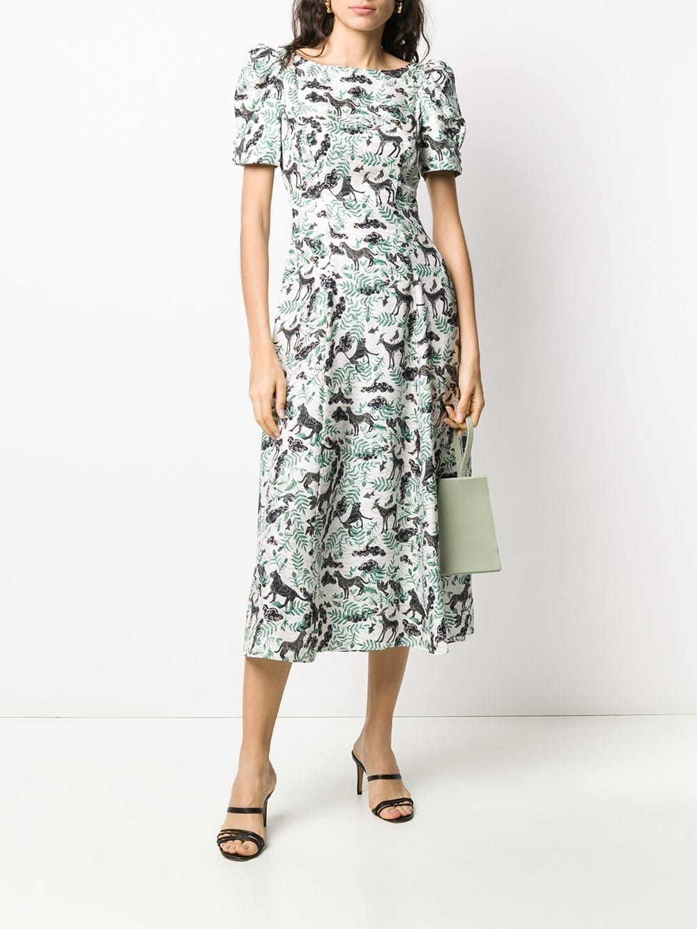 SALONI Eva Floral Midi Dress
