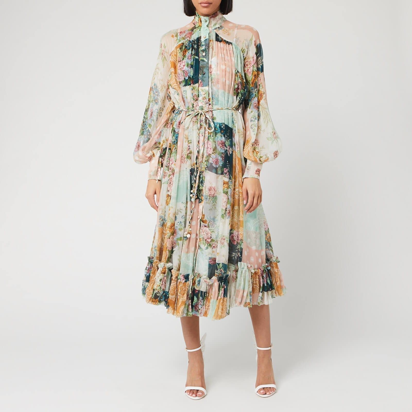 SELF-PORTRAIT Women's Wavelength Smock Midi Dress