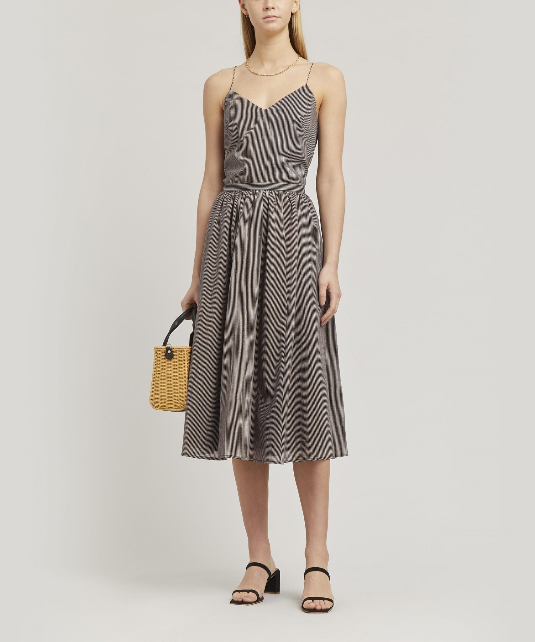 SESSÙN Sospir Open-Backed Midi-Dress