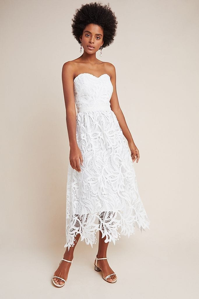 SHOSHANNA Fidelia Lace Midi Dress