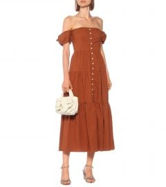 STAUD Elio Cotton Maxi Dress