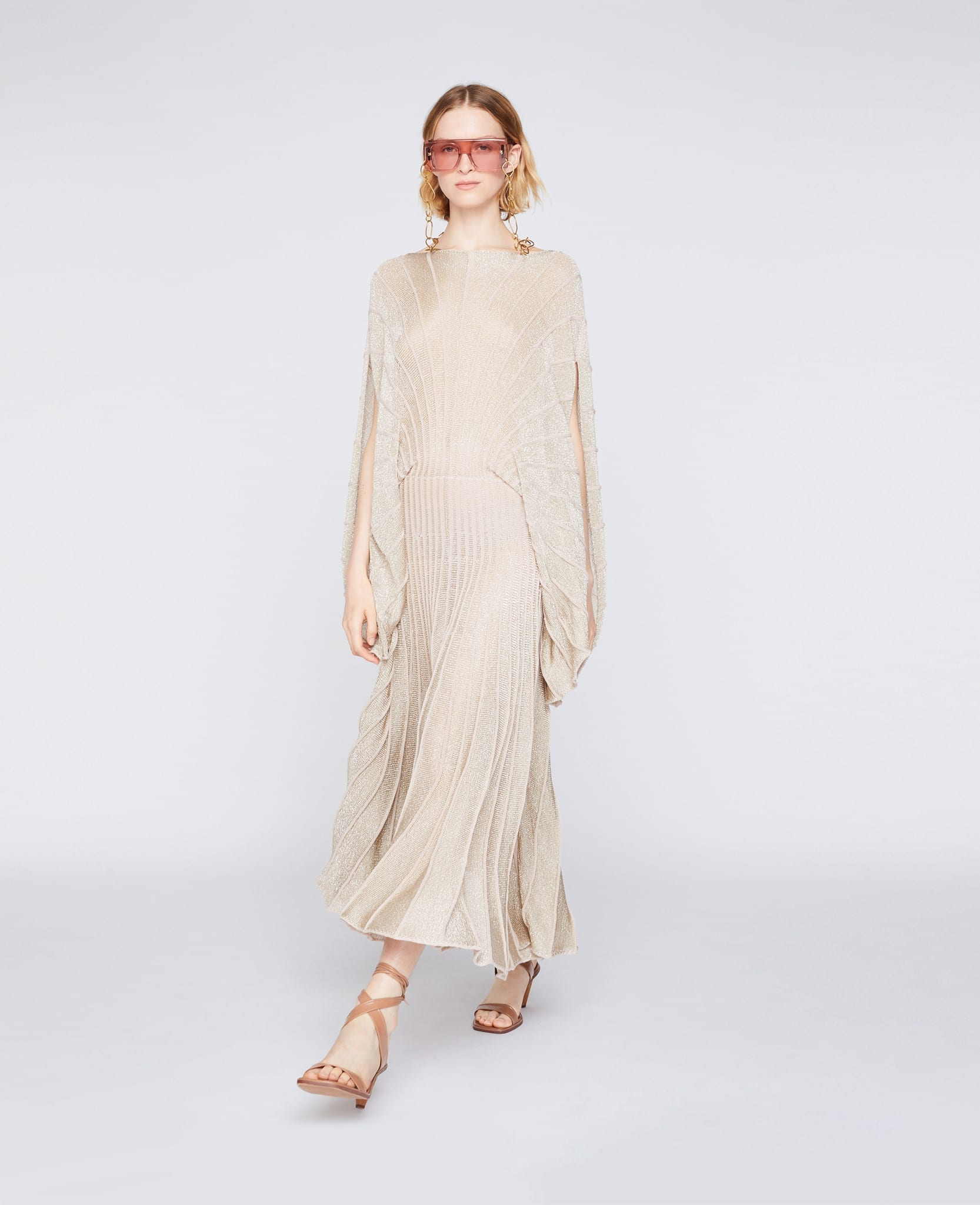 STELLA MCCARTNEY Lurex Knit Midi Dress