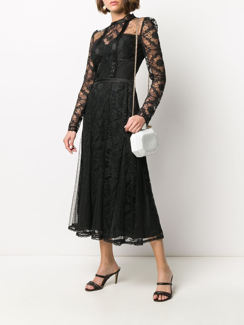 TEMPERLEY LONDON Lace Panel Dress