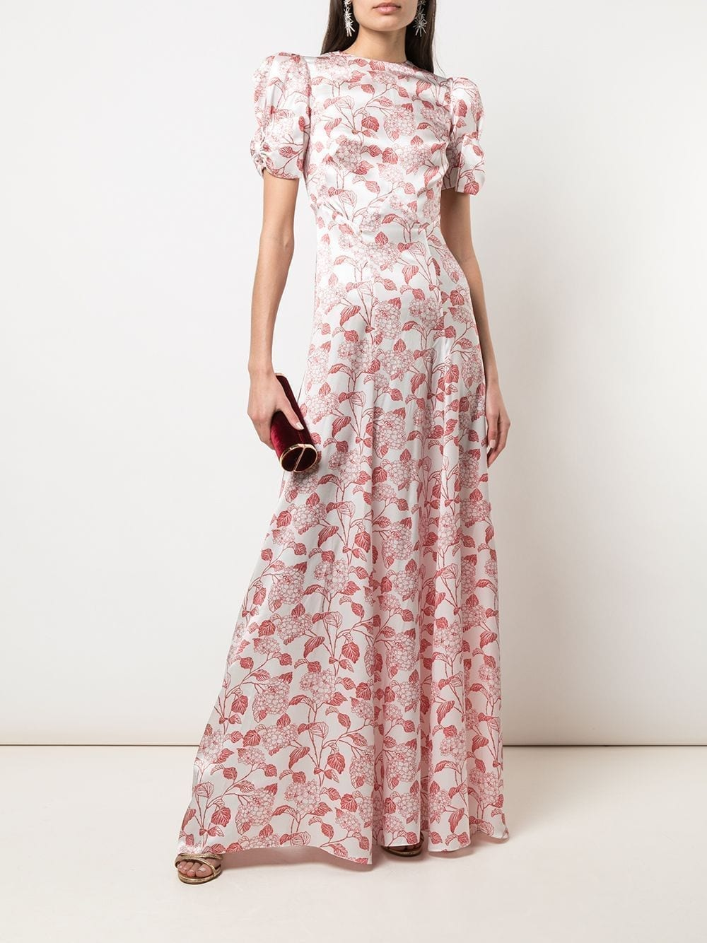 THE VAMPIRES WIFE Liberty Print Puff Sleeve Gown
