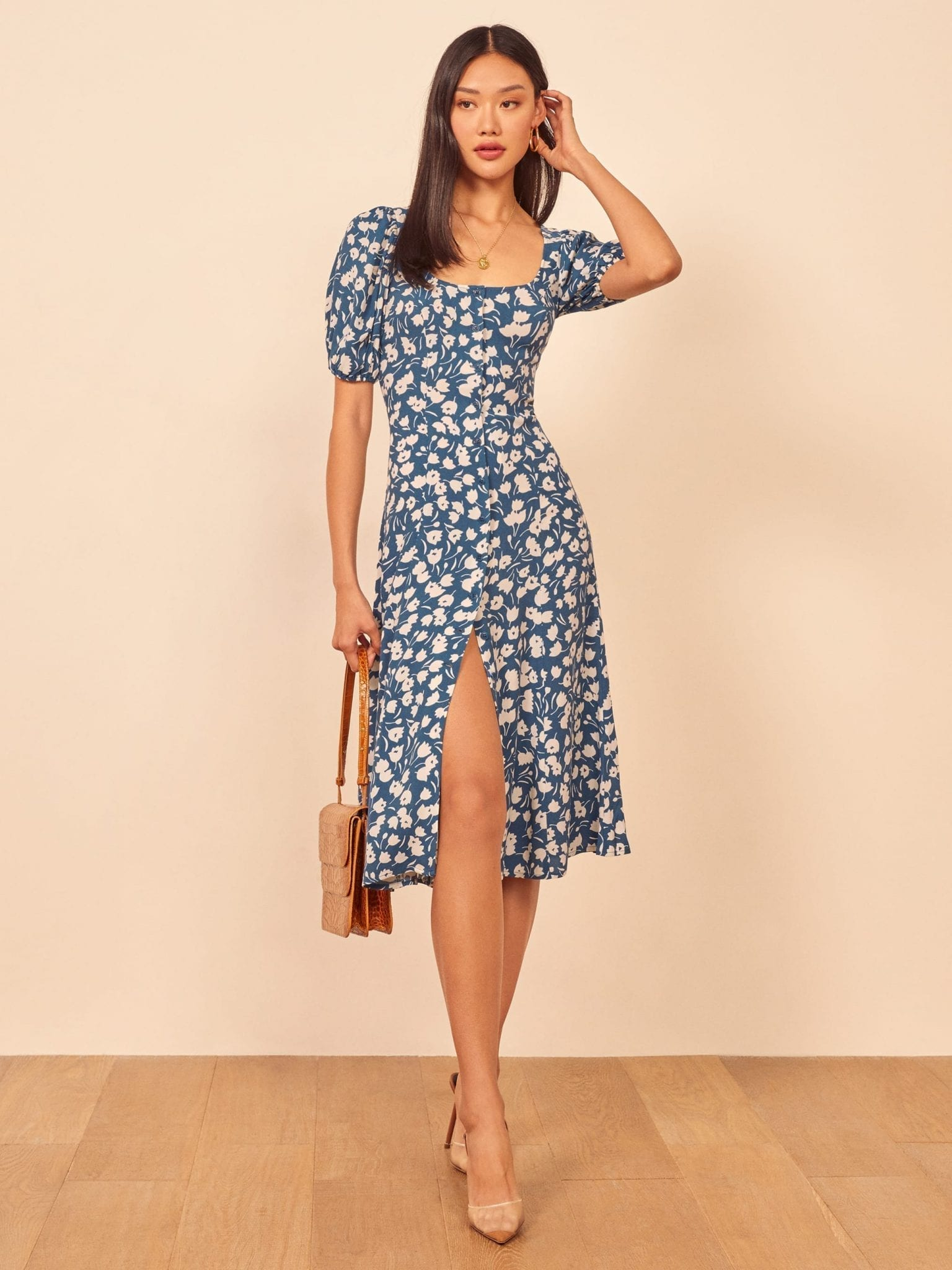 THEREFORMATION Beechwood Dress