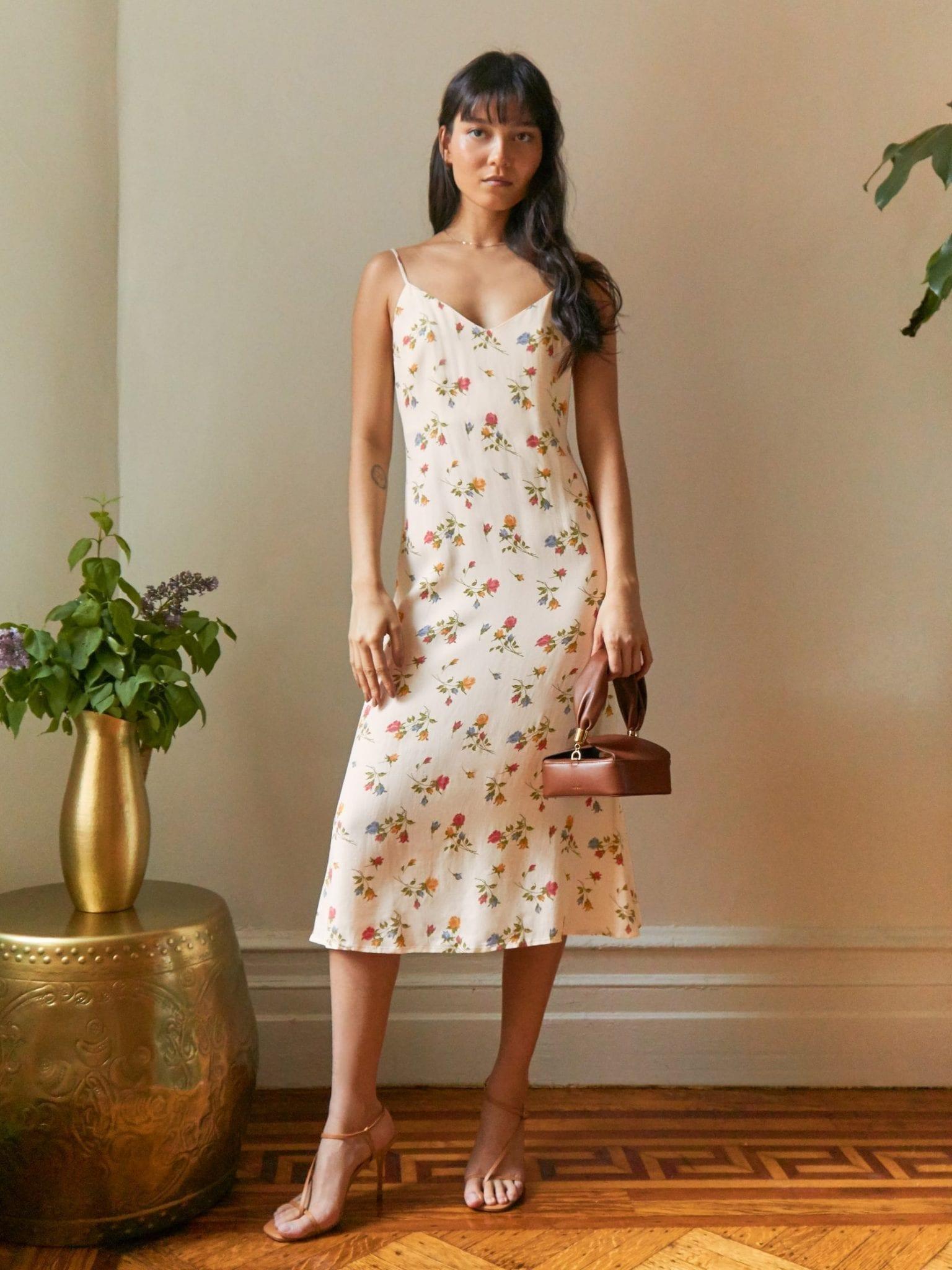 THEREFORMATION Chianti Dress