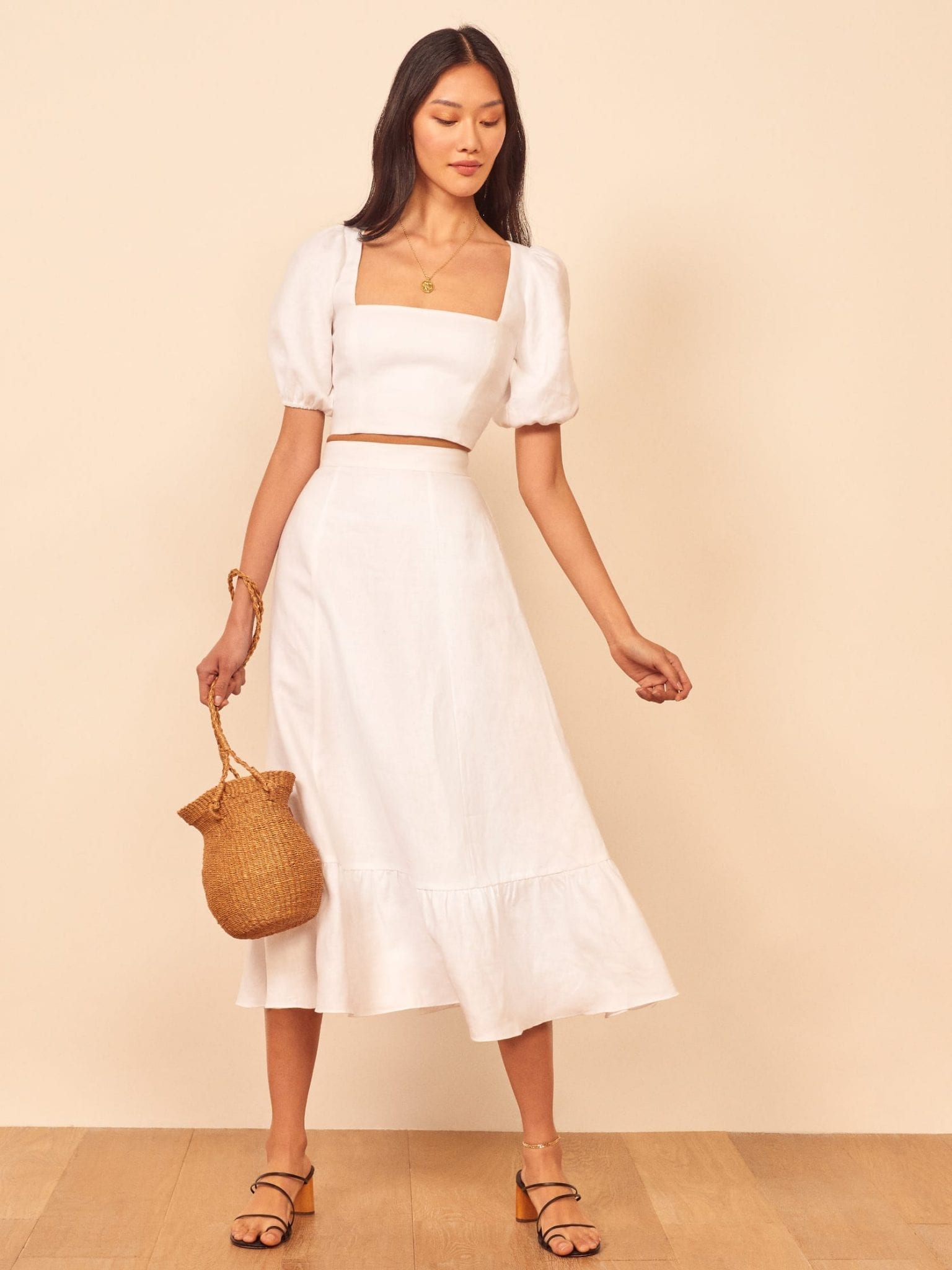 THEREFORMATION Yucca Two Piece Dress