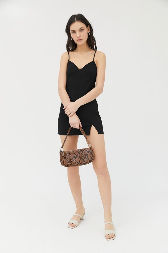 URBAN OUTFITTERS Eldridge Notched Bodycon Mini Dress
