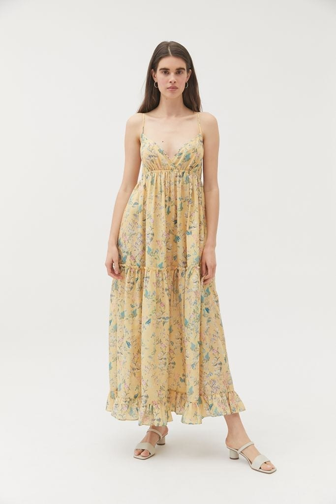 URBAN OUTFITTERS Millstone Floral Tiered Ruffle Maxi Dress