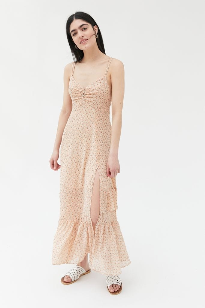 URBAN OUTFITTERS Sparklers Chiffon Midi Dress