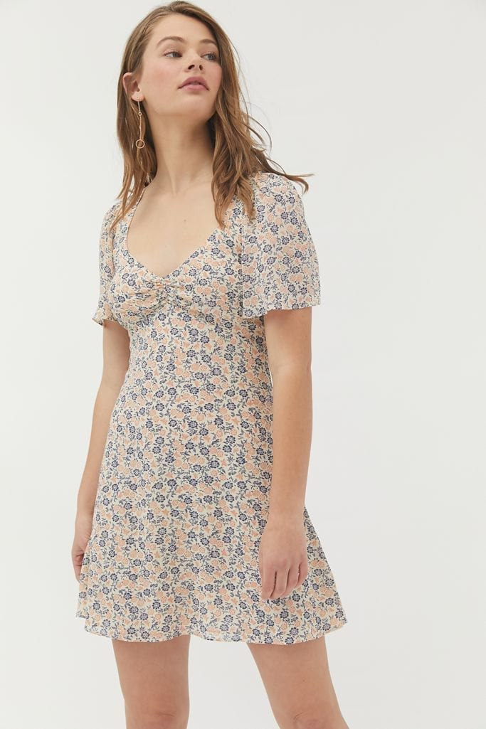 URBAN OUTFITTERS Spring Shower Chiffon Tie-Back Mini Dress