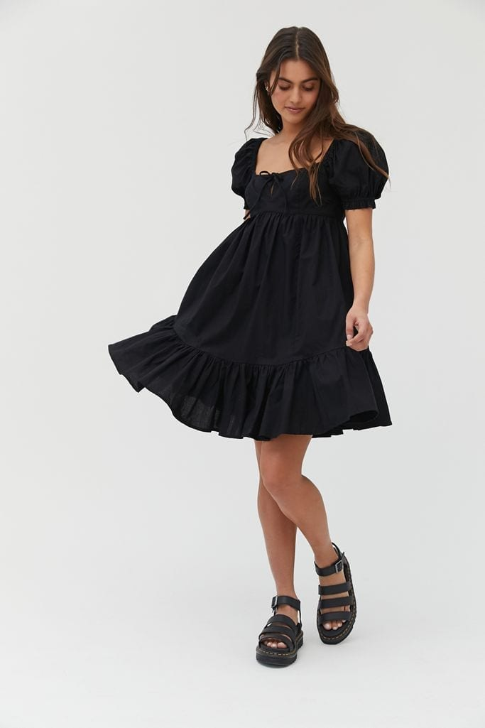 URBAN OUTFITTERS Wonderland Tie-Back Babydoll Dress