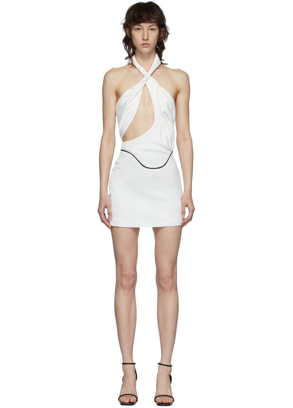 VEJAS White Twisted Grip Dress