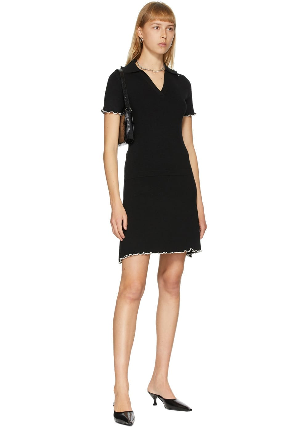 VICTOR GLEMAUD Black Polo Dress