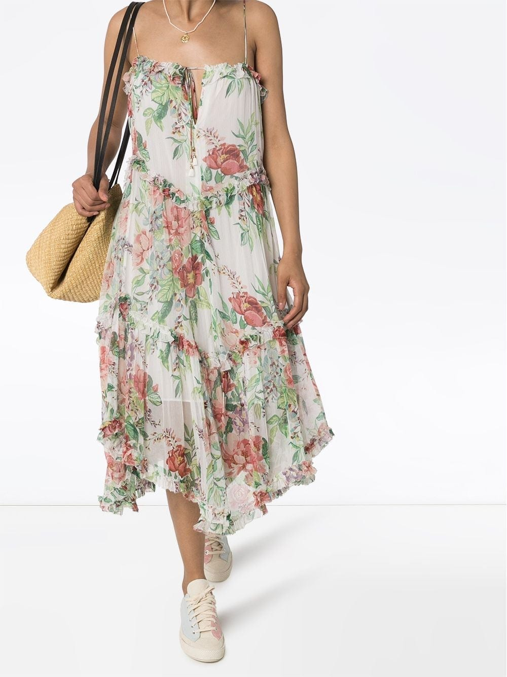 ZIMMERMANN Bellitude Floral-print Midi Dress