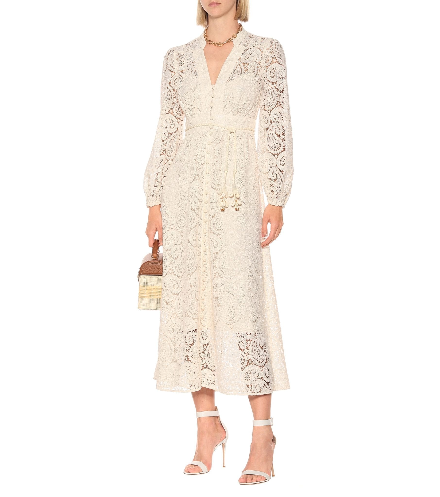 ZIMMERMANN Exclusive To Mytheresa – Lace Midi Dress