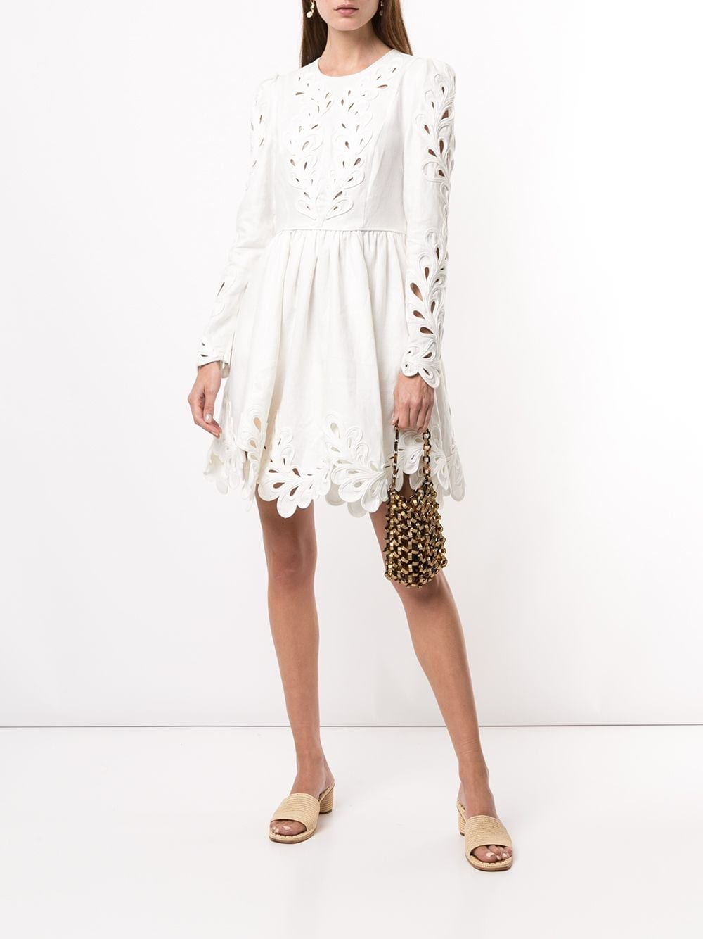 ZIMMERMANN Floral Cut-Out Mini Dress