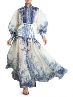ZIMMERMANN Glassy Billow High-Neck Maxi Dress