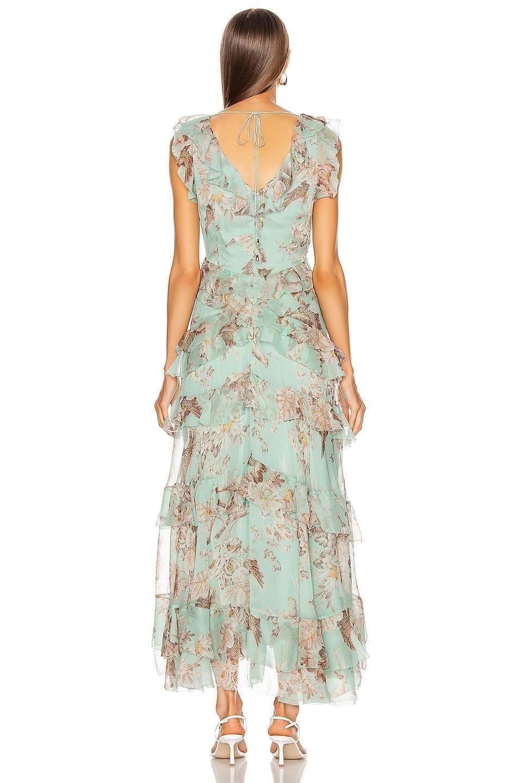 ZIMMERMANN Glassy Frilled Midi Dress