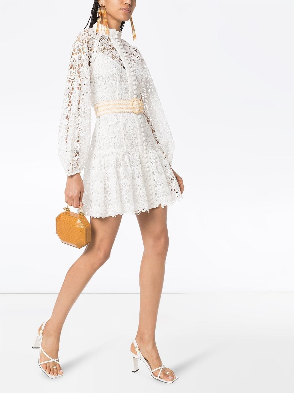 ZIMMERMANN Guipure-lace Mini Dress