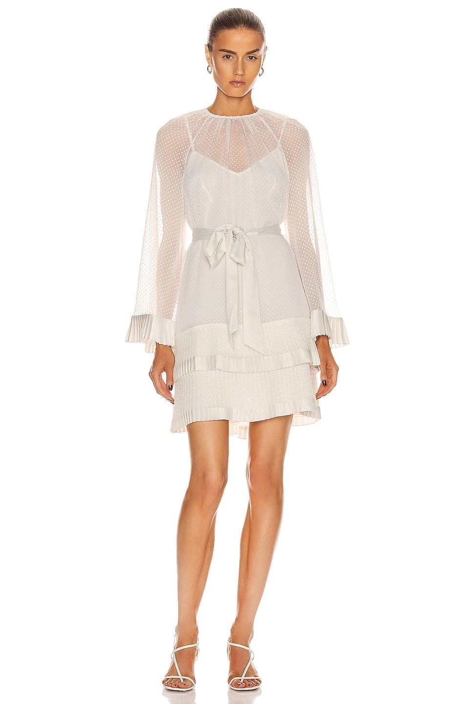 ZIMMERMANN Tiered Flared Mini Dress