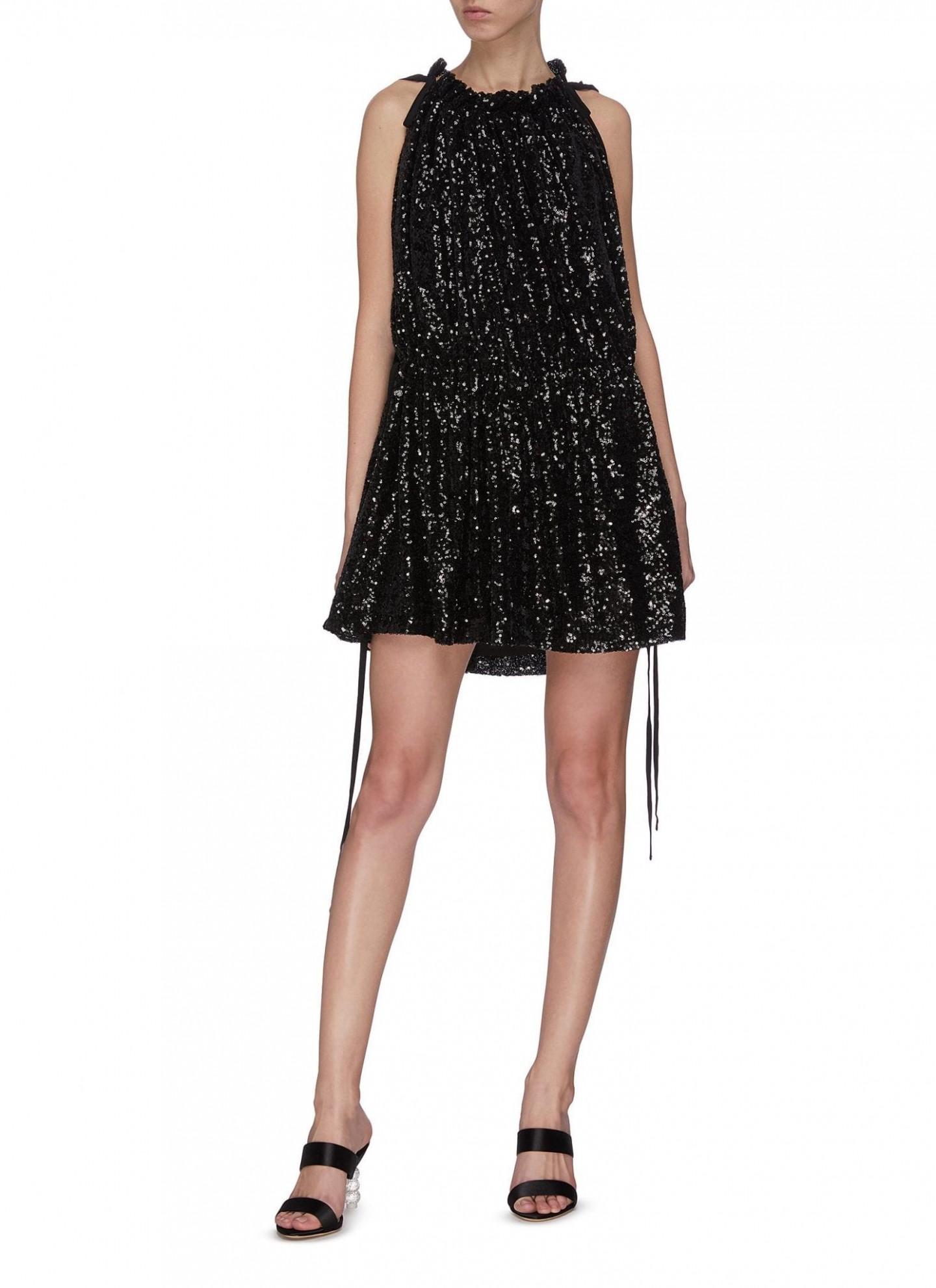 16ARLINGTON Sequin Ruched Mini Dress