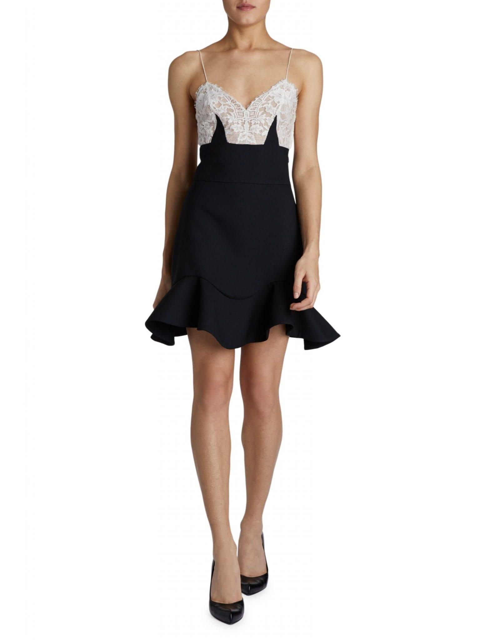 ALEXANDER MCQUEEN Lace Peplum Mini Dress