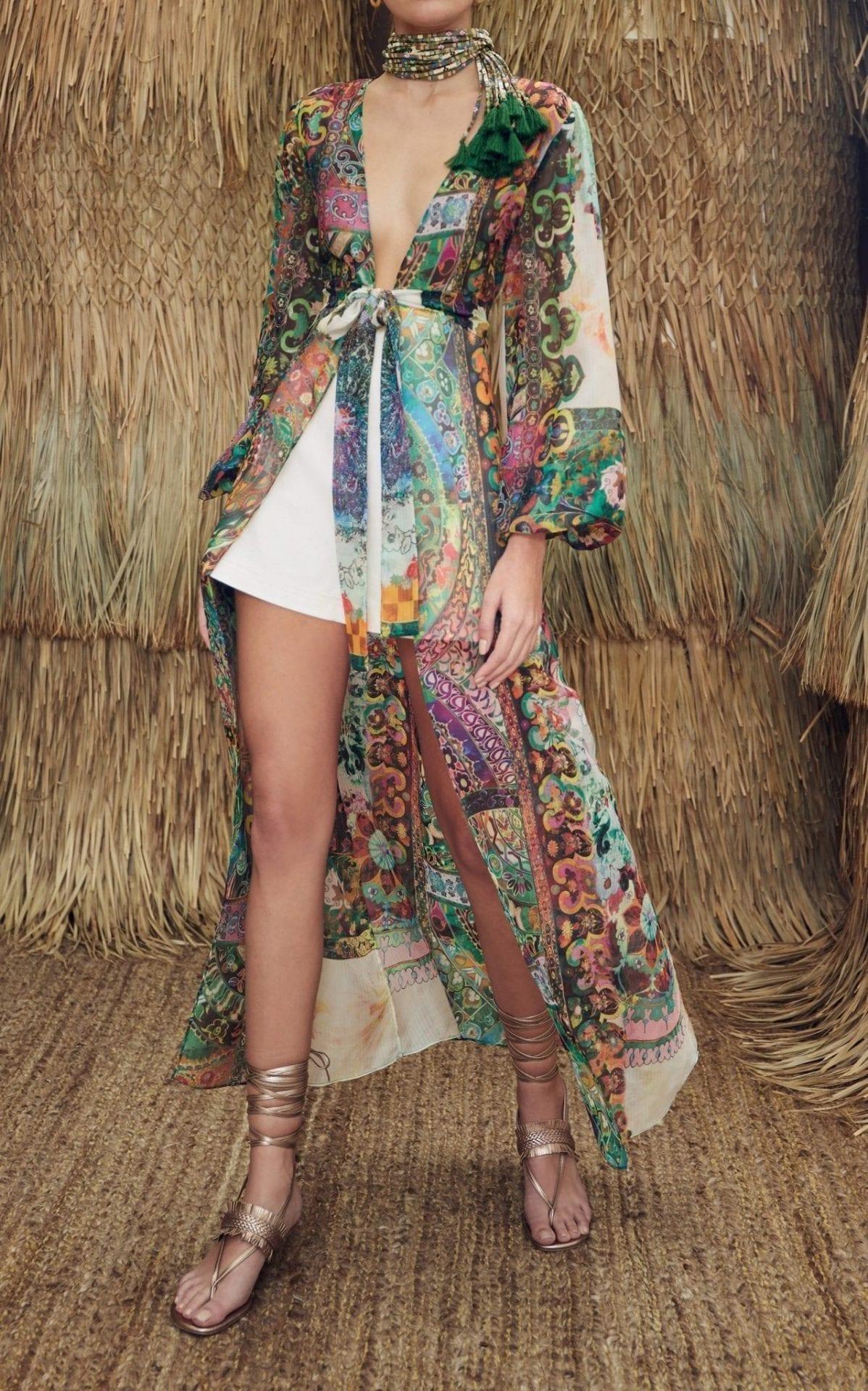 ALEXIS Shoshana Printed Chiffon Wrap Dress