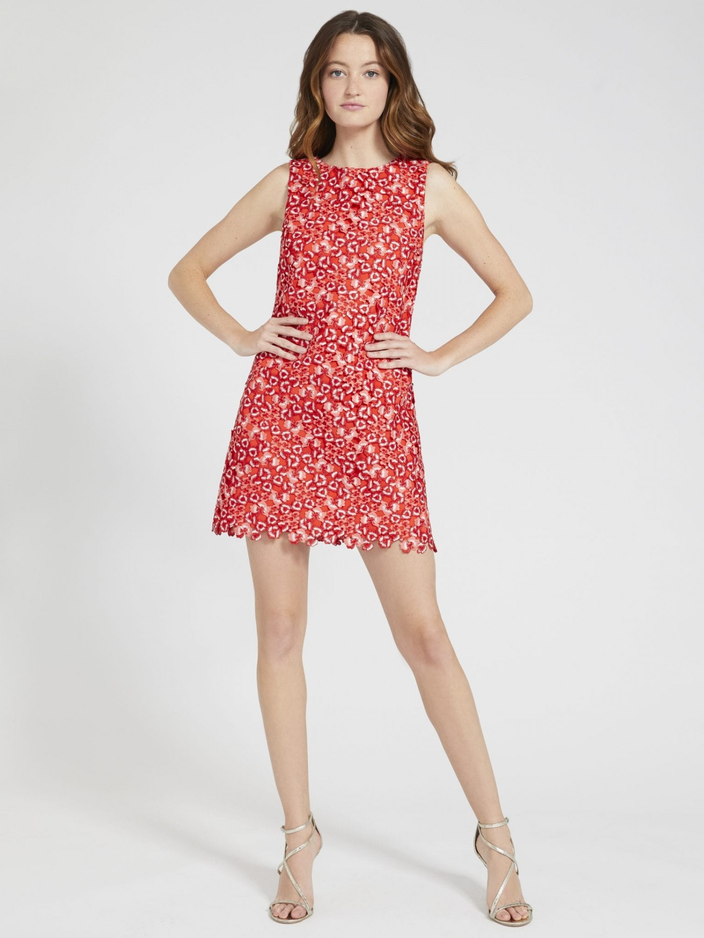 ALICE AND OLIVIA Clyde A-line Shift Dress