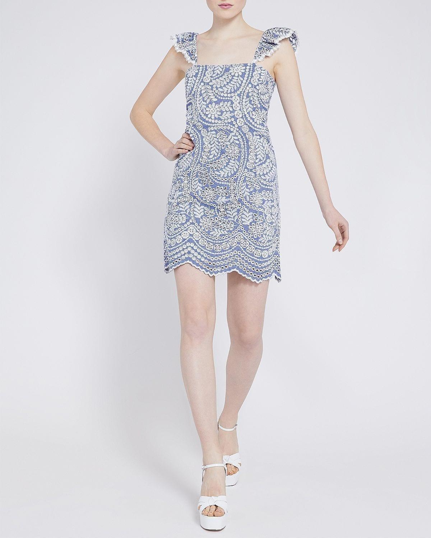 ALICE AND OLIVIA Honor Cotton Mini Dress