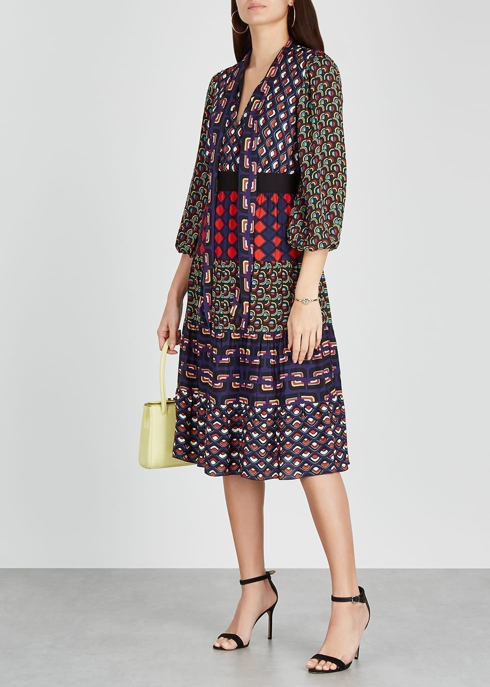 ALICE + OLIVIA Karolina Printed Midi Dress