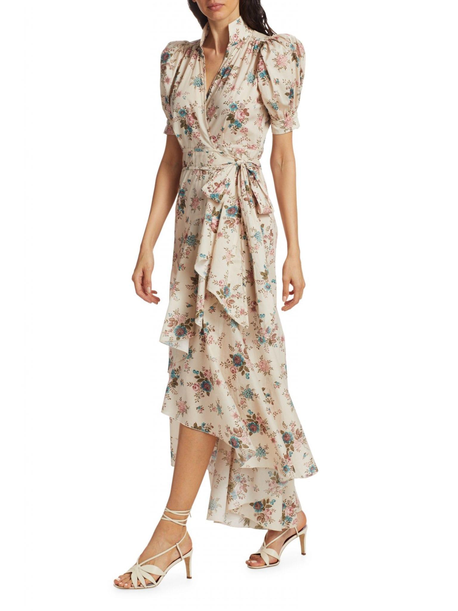 ANNA MASON Stella Floral High-Low Wrap Dress